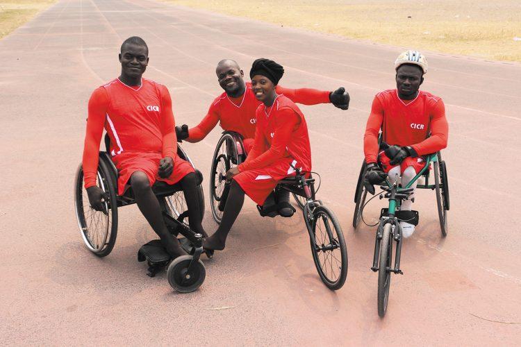 اللجنة الدولية للصليب الأحمر تساعد أربعة رياضيين على تحقيق حلم